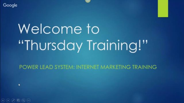 Power Lead System Funnel Training Thursday