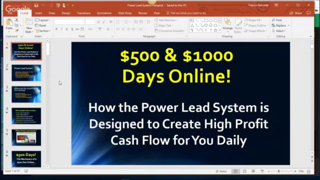 Power Lead System Hangout January 3 2018